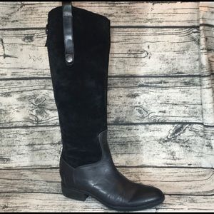 Sam Edelman Suede Leather Pembrooke Riding Boots